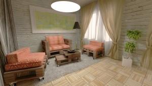 мебели от палети в интериор