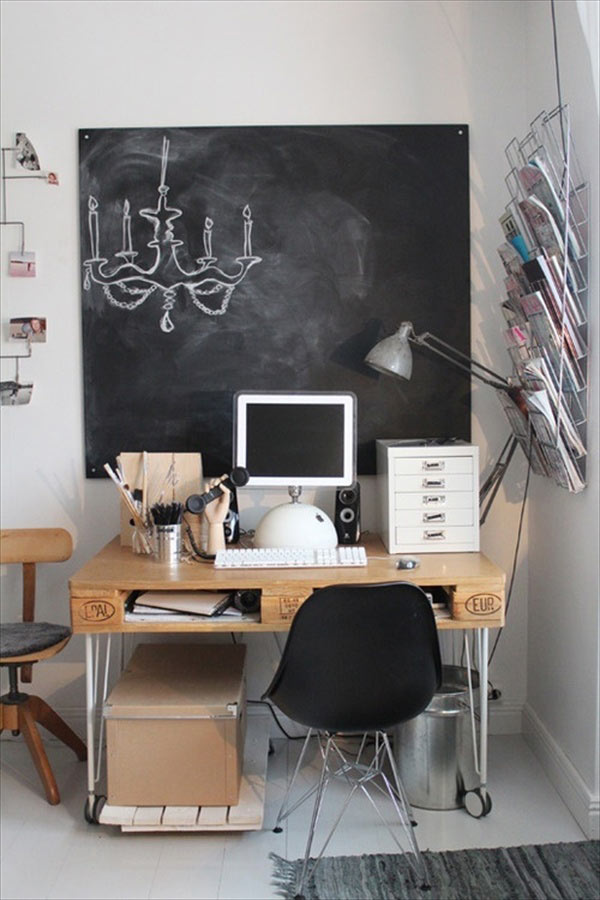 Бюро за офис от палети
