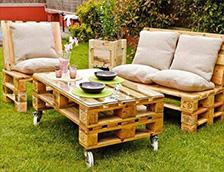 Мебели от палета за градината