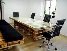 Мебели от палета за офиса