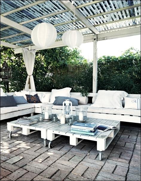 Мебели от палети за градина на заведение