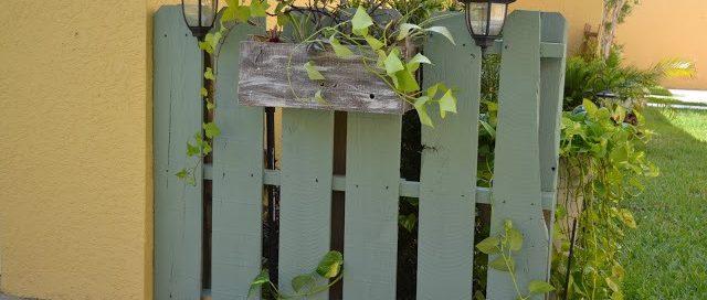 Дървена ограда от палети за градината