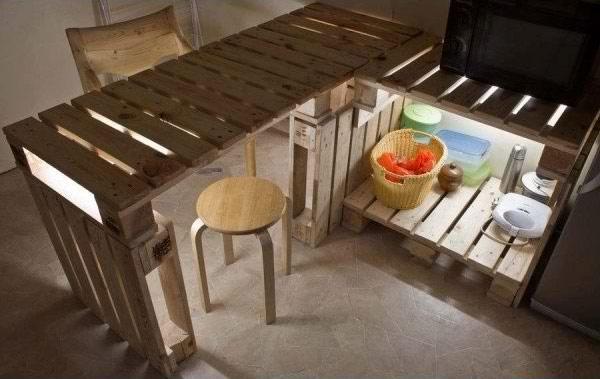 Мебели от палети за кухня