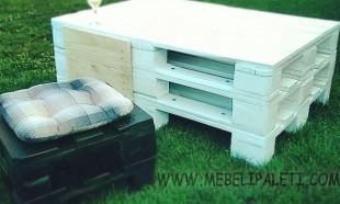 бяла маса от палета за дома с шкаф