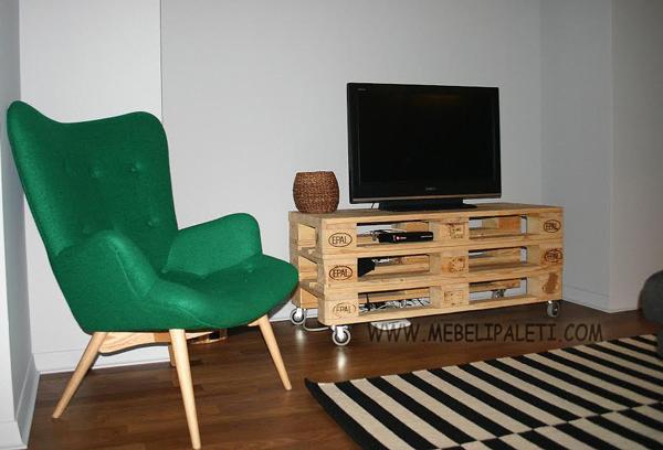 маса за телевизор от палети