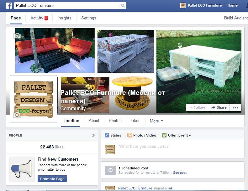 реклама в фейсбук за палети