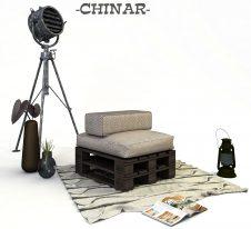CHINAR-табуретка от палети без колела
