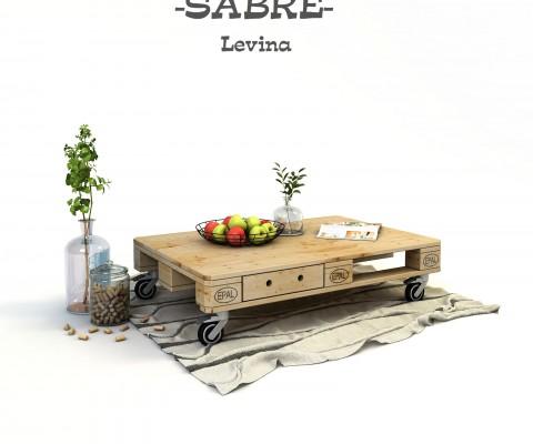 ниска дизайнерска маса от палети