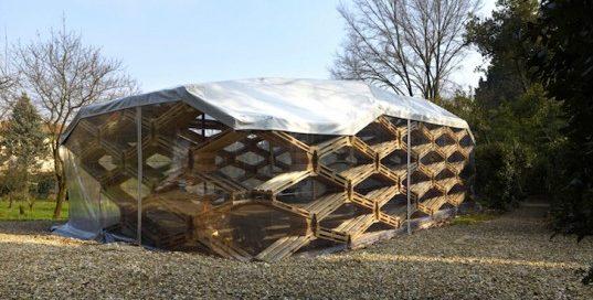еко проект за павилион от палети